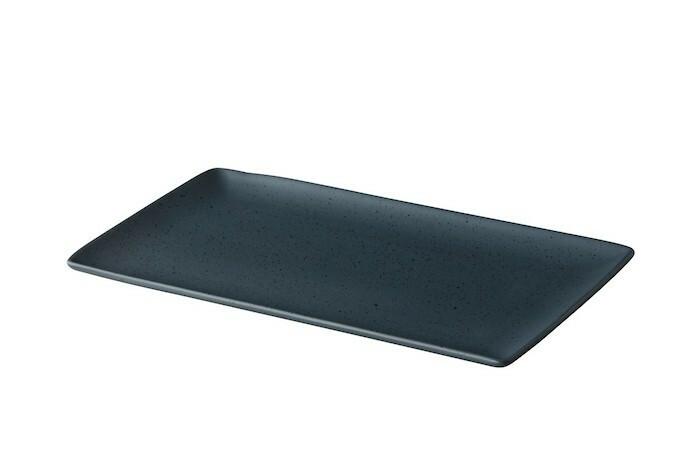 Q Authentic Tinto rechthoekig bord mat donkergrijs 19 x 33,5 cm