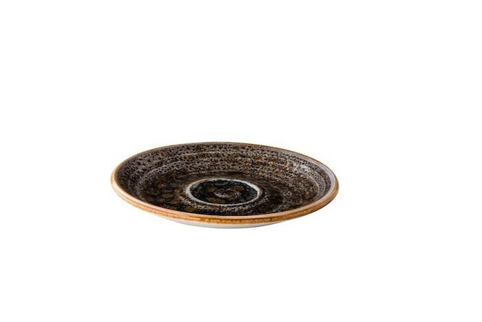 Q Authentic Jersey espressoschotel 13 cm donkerbruin