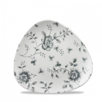 Churchill Vintage Grey Rose Chintz Triangular Plate 19,2 cm