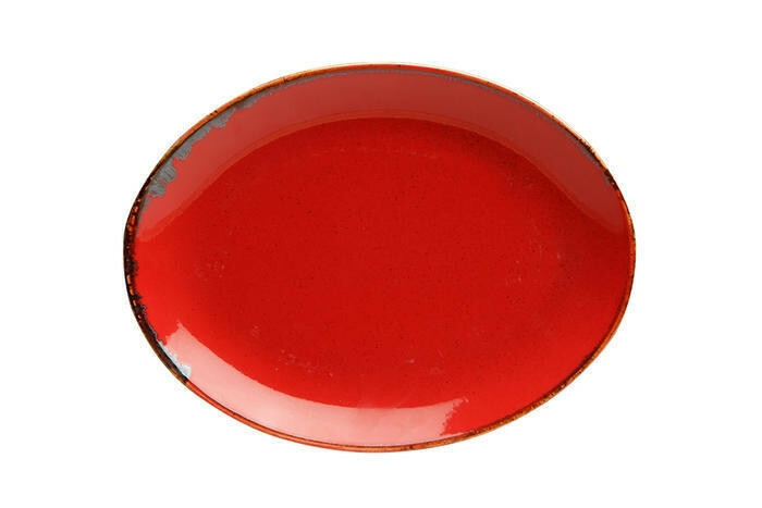 Porland Seasons Red ovaal bord 18 x 14 cm