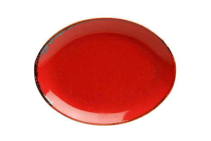 Porland Seasons Red ovaal bord 31 x 24 cm