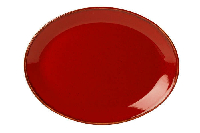 Porland Seasons Red ovaal bord 36 x 27 cm