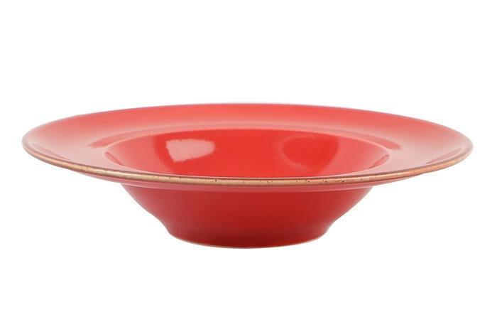 Porland Seasons Red bord diep brede rand 25 cm