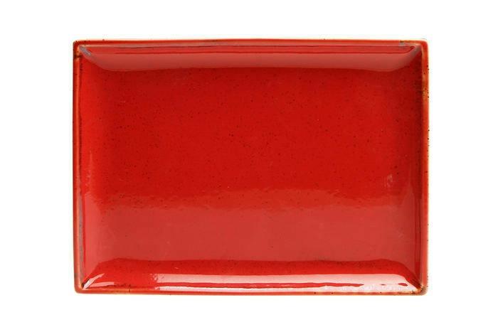 Porland Seasons Red oblong bord 18 x 13 cm
