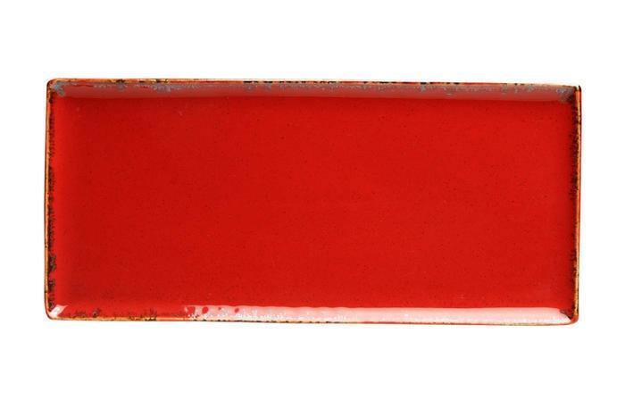 Porland Seasons Red oblong bord 35 x 16 cm