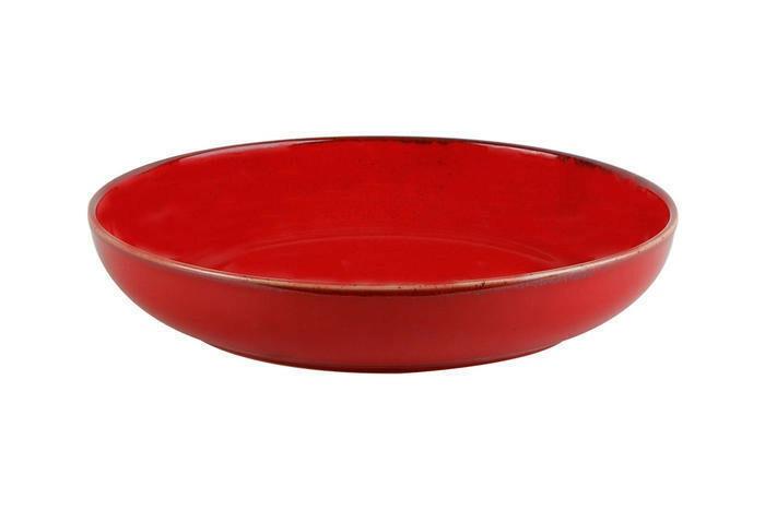 Porland Seasons Red bowl laag 22 cm 83,5 cl