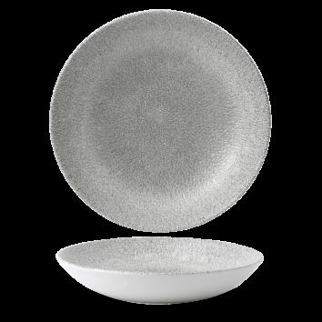 Studio Prints Raku Jasper Grey coupe bowl 24,8 cm