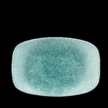 Studio Prints Raku Jade Green chef`s oblong plate 23,5 x 15,5 cm