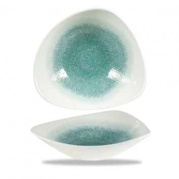 Studio Prints Raku Jade Green triangle bowl 23,5 cm