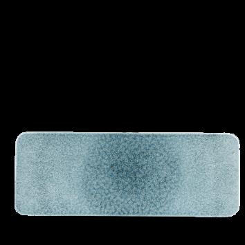 Studio Prints Raku Topaz Blue rectangular tile 37,6 x 14 cm