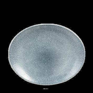 Studio Prints Raku Topaz Blue ovaal coupe bord 27 cm