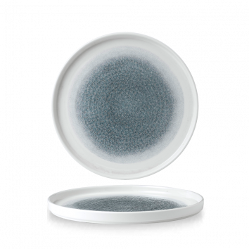 Studio Prints Raku Topaz Blue walled chef`s plate 26 cm
