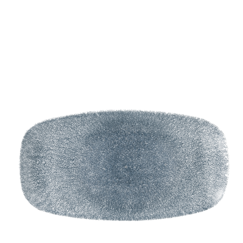 Studio Prints Raku Topaz Blue chef`s oblong plate 29,8 x 15,3 cm