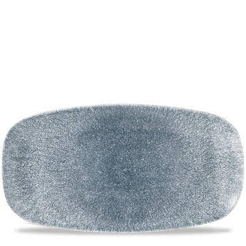 Studio Prints Raku Topaz Blue chef`s oblong plate 35,5 x 18,9 cm