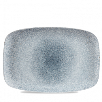 Studio Prints Raku Topaz Blue chef`s oblong plate 35,5 x 24,5 cm