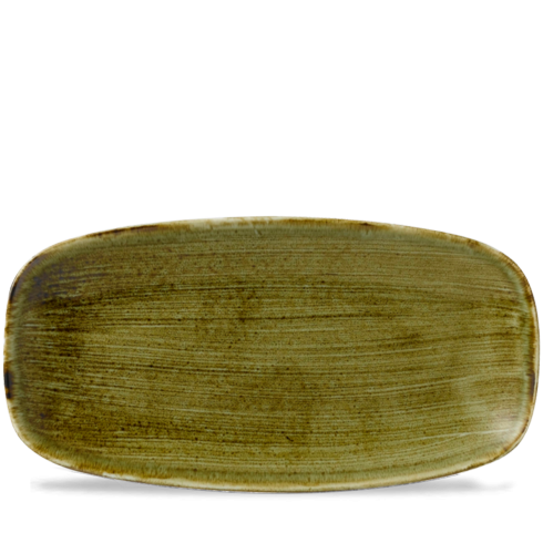 Stonecast Plume Olive chef`s oblong plate 35,5 x 18,9 cm