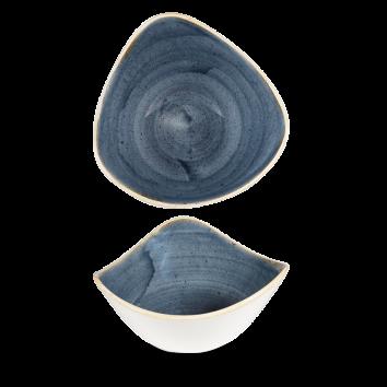 Stonecast Blueberry triangle bowl 18,5 cm