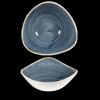 Stonecast Blueberry triangle bowl 23,5 cm