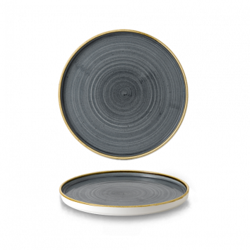 Stonecast Blueberry walled chef`s plate 21 cm