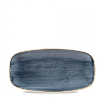 Stonecast Blueberry chef`s oblong plate 35,5 x 18.9 cm
