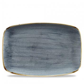 Stonecast Blueberry chef`s oblong plate 35,5 x 24,5 cm