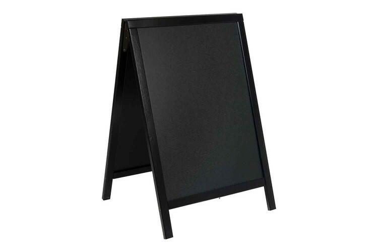 Securit stoepkrijtbord Woody klein zwart 54,5 x 44 x 85(h) cm