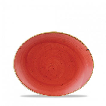Stonecast Berry Red coupe bord ovaal 19,2 cm