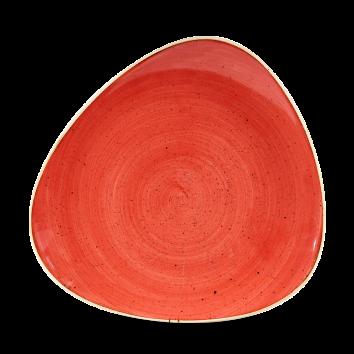 Stonecast Berry Red triangle bord 26,5 cm