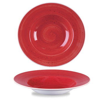 Stonecast Berry Red bord diep brede rand 28 cm