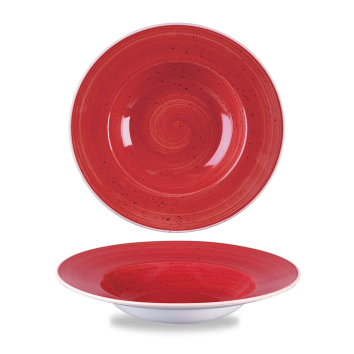 Stonecast Berry Red bord diep brede rand 24 cm