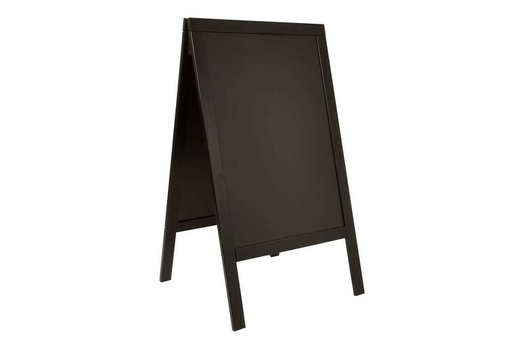 Securit stoepkrijtbord Woody groot zwart 69 x 56,5 x 125(h) cm