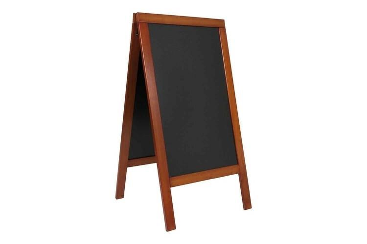 Securit stoepkrijtbord Woody groot mahonie 71,5 x 66 x 139(h) cm