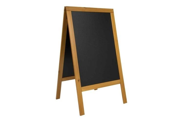 Securit stoepkrijtbord Woody groot teak 69 x 56,5 x 125(h)cm