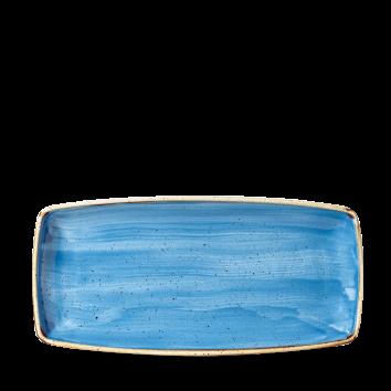 Stonecast Cornflower Blue oblong plate 29 cm