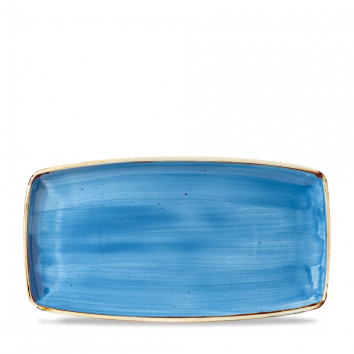 Stonecast Cornflower Blue oblong plate 35 x 18,5 cm