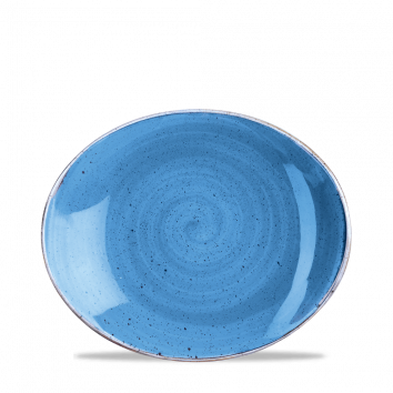 Stonecast Cornflower Blue coupe bord ovaal 19,2 cm