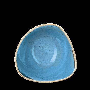 Stonecast Cornflower Blue triangle bowl 15,3 cm