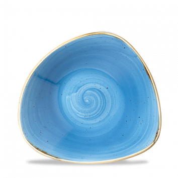 Stonecast Cornflower Blue triangle bowl 18,5 cm