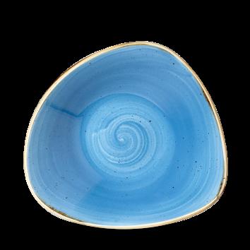 Stonecast Cornflower Blue triangle bowl 23,5 cm