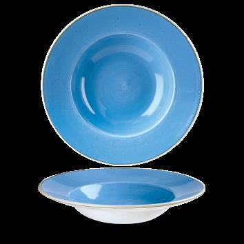 Stonecast Cornflower Blue bord diep brede rand 28 cm