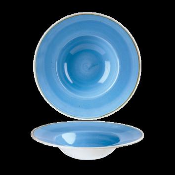 Stonecast Cornflower Blue bord diep brede rand 24 cm