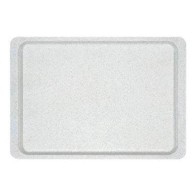 Roltex rechthoekig dienblad polyester 26,5 x 32,5 cm gespikkeld grijs