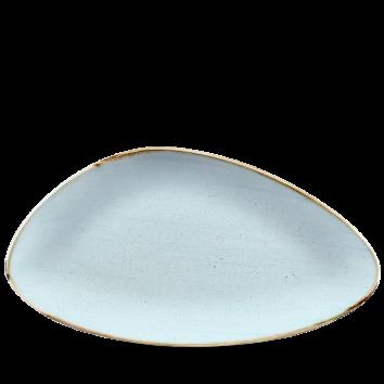Stonecast Duck Egg Blue chef`s triangle bord 35 cm