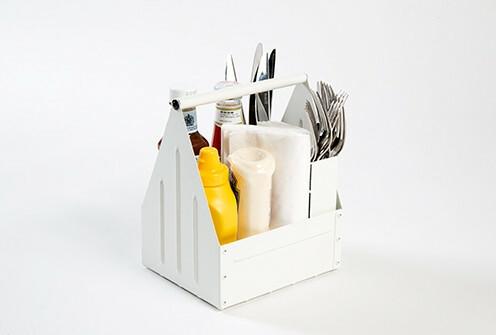 tafelcaddy White 17 x 14 x 22(h) cm