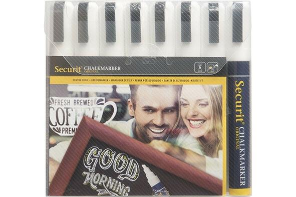 Securit krijtstift wit 2-8 mm DOOS 8