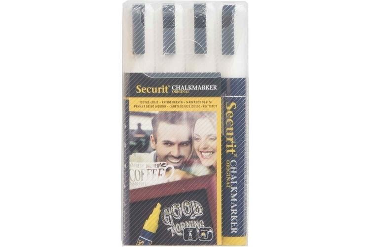 Securit krijtstift wit 2-6 mm DOOS 4