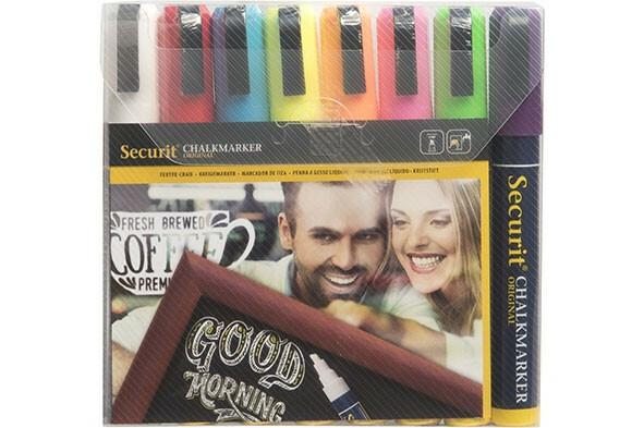 Securit krijtstiften multi kleuren 2-6 mm DOOS 8