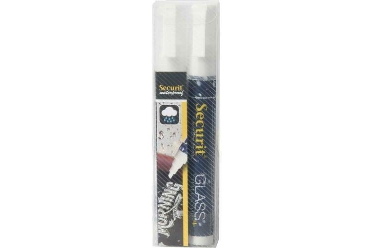 Securit krijtstift waterproof wit 2-6 mm DOOS 2