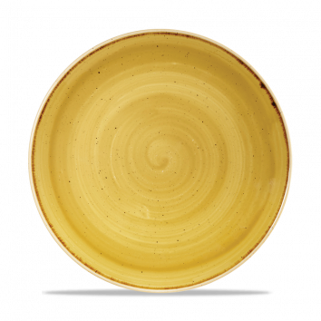 Stonecast Mustard Seed Yellow coupe bord 26 cm