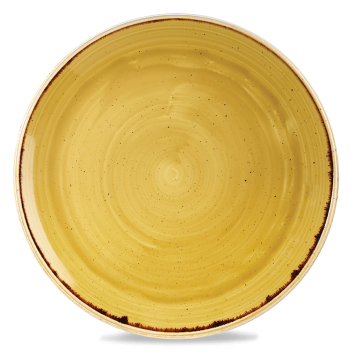 Stonecast Mustard Seed Yellow coupe bord 32,4 cm